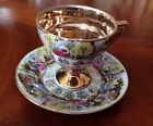 Vintage Tea Cup and Saucer Hand Painted Tilso Japan