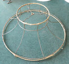 Antique Victorian Large Wire Cloth Lamp Shade Frame - 24 3/4
