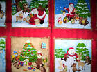 2 panels SEASON'S GREETINGS by FABRI-QUILT INC animals red