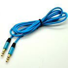 Blue 3.5mm Male to Male Plug Jack Stereo Audio AUX Cable for iPhone iPod MP3