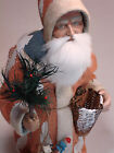 Paper mache Santa candy container handmade by Paul Turner