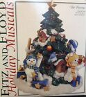 Fitz and Floyd Holiday Musicals The Flurries Snowmen Wish You Merry Christmas