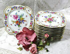12 , Bavaria,Germany, Porcelain Plates Dresden Flowers Multi Color 1903-1927