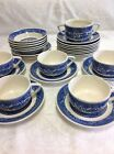 Vintage Blue Willow, transfer ware,  all matching, with sugar bowl, no lid