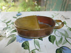 Vintage copper brass hand Made forged dish bowl container