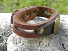 Custumized your wrist Real Indian head penny Genuine Buffalo Leather Bracelet