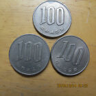 3 Japan coins 100 Yen  from 1942 - 45 -  52 Heisel