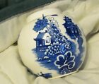 Blue Willow Burleigh Burgess Leigh Tea/Ginger Jar Staffordshire UK, NO LID