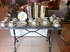 36 pieces of Georges Briard Victorian Garden Set: 11 cups/saucers and 11 plates