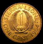1964 Sierra Leone 1 Cent FREEDOM & JUSTICE Coin in GREAT CONDITION!