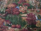 Fall Scenic Print BTY The Kesslers for Concord Trees Deer Pheasant Geese House
