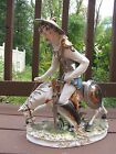 Antique Vintage Capodimonte Huge Don Quixote Figurine Meneghetti17.5