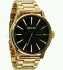 New Nixon A356510 Sentry SS All Gold Black Dial Mens Watch