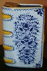 Vintage Delftware Hand Warmer 'The Gift is Small Good Will Is All' (A)