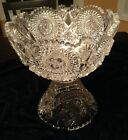 ANTIQUE Crystal Punch Bowl 2 Parts