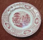 EDWARD CHALLINOR CORINTHIA  MULBERRY PLATE TRANSFER WARE ANTIQUE RED WHITE 8.5