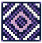 Easy Quilt Kit/Diamond Cut/Pre-cut Fabrics Ready To Sew/Purple Scrappy/Gorgeous!