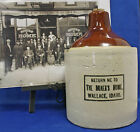 Red Wing ½ Gallon Whiskey Stoneware Jug, MINERS HOME, Wallace Idaho ca 1910
