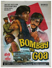 *RARE* Bombay to Goa 1972 AMITABH old vintage Bollywood movie poster India ORIG*