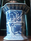 ANTIQUE Vintage Porcelain PLANTER - CRACKLE Vase - Cachepot - BRUSH POT Cauldron