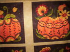 2 panels POSH PUMPKINS Sandy Gervais Moda Fabrics orange yellow green brown rust