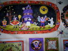 2 panels BOPPITY BOO Kelly Mueller Red Rooster fabrics mats trick or treat bags