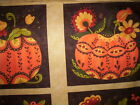 1 panel POSH PUMPKINS Sandy Gervais Moda Fabrics orange yellow green brown rust