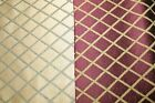 Home Decor Fabric Chenille Upholstery Diamond Gold Maroon Heavy BTY 2 Colors