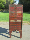 ANTIQUE VTG INDUSTRIAL SHOP METAL FILE CABINET STORAGE BIN ORGANIZER STEAMPUNK