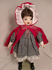 Red Riding Hood Girl Doll Ceramic Collectible Kids Girl Teen Toy Toys Vinatage