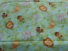 Fabric 16 Inches Jungle Leaves Animal Faces Lion Giraffe Elephant Tiger Hippo