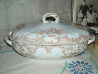 Ironstone Brown Transfer Ware Soup Tureen Covered Dish Furnivals Versailles