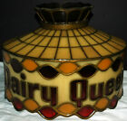 1970s DAIRY QUEEN TIFFANY STLE Stained Glass LAMP Chandelier HANGING LIGHT SWAG