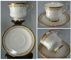 VINTAGE ELIZABETHAN HAND DECORATED CUP AND SAUCER, CLASSIC ENGLAND