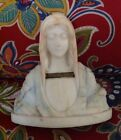 Vintage Virgin Mary Marble Bust Statue 8.5
