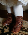 SO CUTE ANTIQUE GERMAN LEATHER DOLL SHOES BOOTS for 18