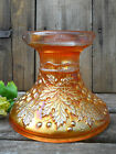 Antique Northwood Marigold Carnival Glass Punch Bowl Base Grape