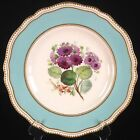 Hand-painted COPELAND Porcelain Plate Cineraria Flower & Gilt Decoration Lovely!