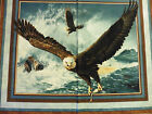 Eagle Quest of the Hunter  Cotton Large Panel Fabric by Springs Creative