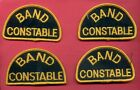 BAND CONSTABLE - Lot of 4 - Manitoba Canada - Vintage POLICE - PATCH / BADGE -