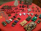 LOT OF VINTAGE PLASTIC ARMY MEN JEEPS TANKS HELICOPTER ACCESSORY'S ESTATE FIND