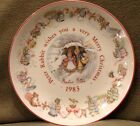 Beatrix Potter Wedgewood Vintage 1983 Bone China Plate Christmas Holiday