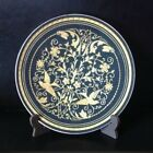 Unique Damasquinado de Oro Toledo Spain 24k Gold Bird Design Black Plate 4