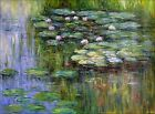 Extra Large! Claude Monet Water Lily Pond, Hand Painted Oil Painting 36x48in