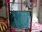 Tignanello Teal Embossed Leather Convertible Hobo Bag