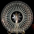 HAWKES ABP Cut Glass Plate NEWPORT Pattern Center Star Great Outer Band Signed