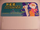 VINTAGE 70's PEZ CHRISTMAS SANTA CLAUS AND SNOWMAN HEADER CARD - RARE - UNUSED