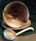 Noritake Mayonnaise Condiment Wonton 3-Piece Handpainted Bowl Set Morimura