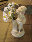 Antique GERMAN FRENCH GIRL SPILL VASE Porcelain Bisque Doll Piano Baby Figurine