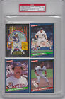 1986 Donruss Box Panels GIBSON Willie DeCINCES PSA 6 EX MT rare 1 2